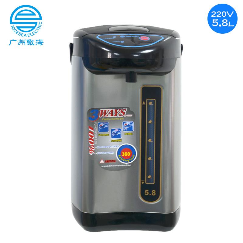 220V外贸气压式电热水瓶5.8L