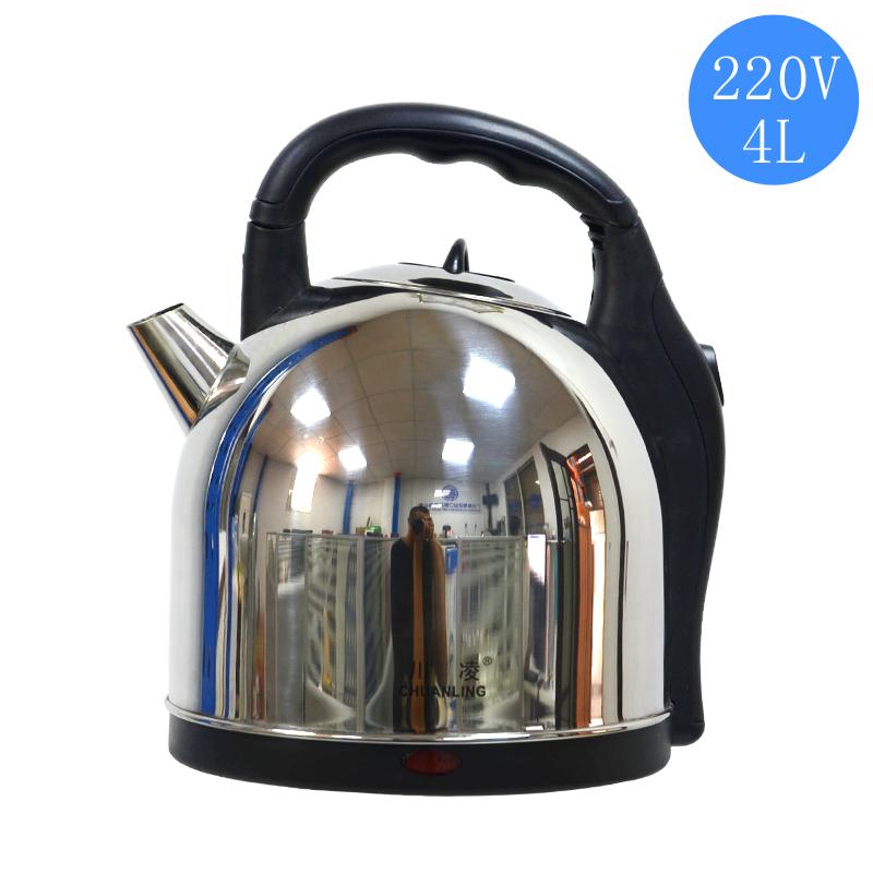 220V无线快烧不锈钢电热水壶4L
