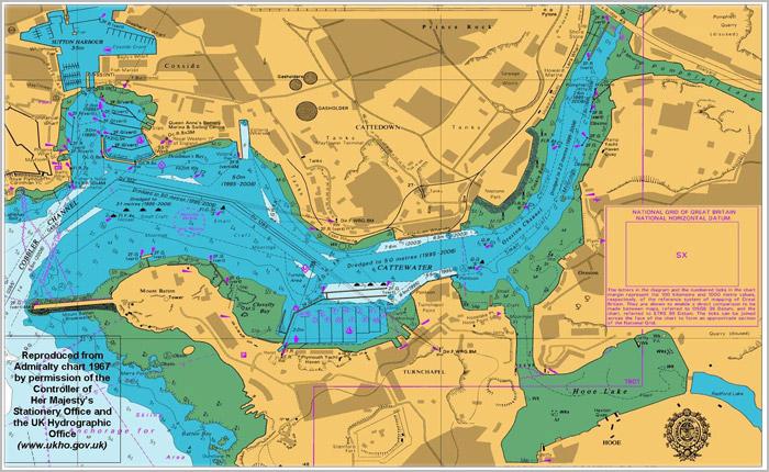 英版海图 BAC 6960~6970
