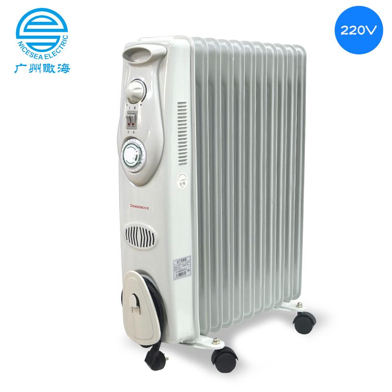 220V外贸定制2000W油汀长虹取暖器