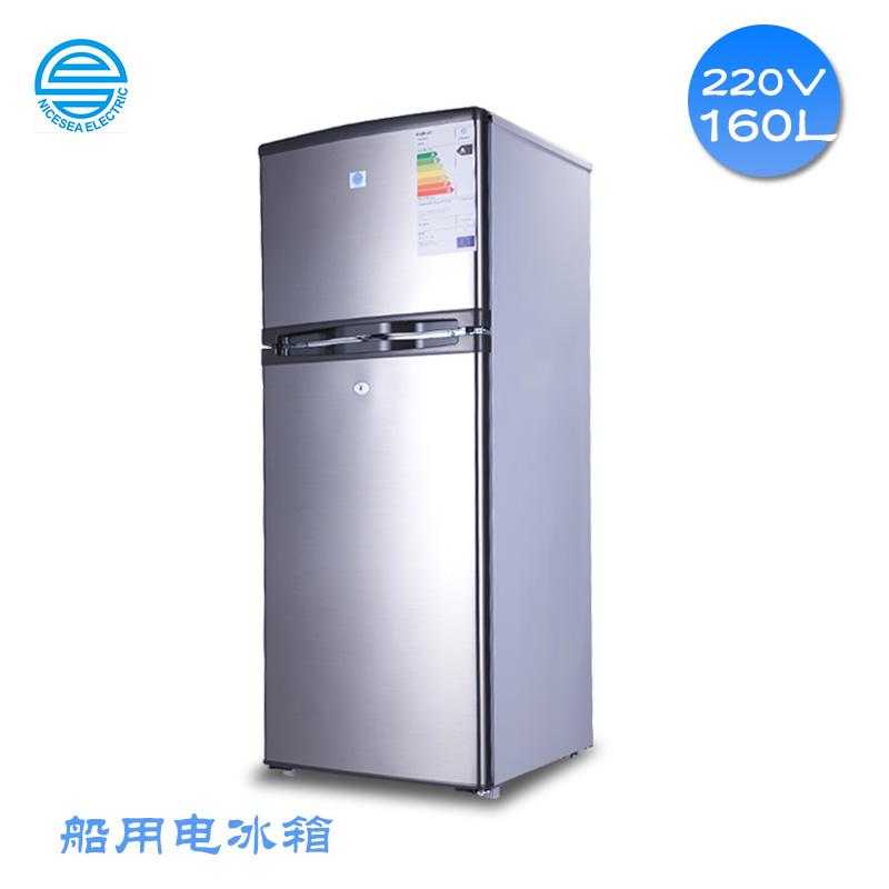 220V60HZ船舶专用160L电冰箱双门