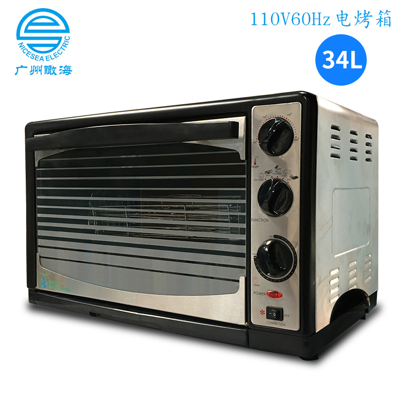 110V出口外贸电烤箱34L