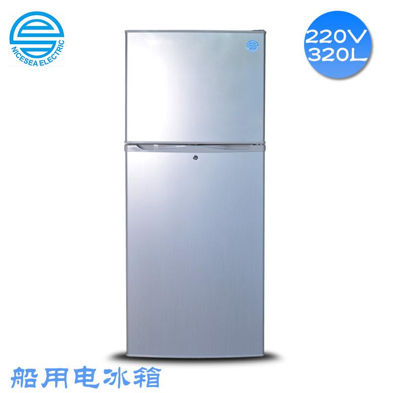 外贸船用320L双门电冰箱220V60HZ